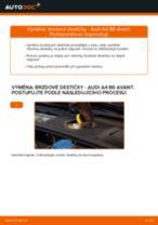 Jak vyměnit přední brzdové destičky na Audi A4 B6 Avant – návod k výměně