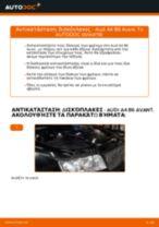 Πώς αλλαγη και ρυθμιζω Δισκόπλακα AUDI A4: οδηγός pdf