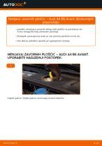 Vodič PDF po korakih za menjavo AUDI A4 Avant (8E5, B6) Zavorne Ploščice