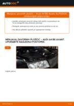 DIY-priročnik za zamenjavo Zavorne Ploščice v AUDI A4