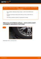 Kako zamenjati in prilagoditi Kolesni lezaj AUDI A4: vodnik pdf