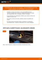 Como mudar discos de travão da parte dianteira em Audi A4 B6 Avant - guia de substituição
