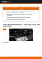 Kuidas vahetada Piduriketas tagumine ja eesmine AUDI A4 Avant (8E5, B6) - juhend online