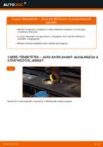 Hogyan cseréje és állítsuk be Fékbetét készlet AUDI A4: pdf útmutató