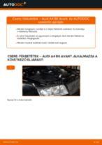 AUDI A4 Avant (8E5, B6) Fékbetét készlet beszerelése - lépésről-lépésre útmutató