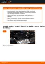 Kā nomainīt: aizmugures bremžu diskus Audi A4 B6 Avant - nomaiņas ceļvedis