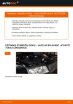 AUDI A4 Stabdžių diskas keitimas: nemokamas pdf