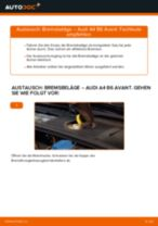 Wie Bremsklötze AUDI A4 auswechseln und einstellen: PDF-Anleitung