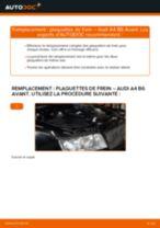 Comment changer : plaquettes de frein arrière sur Audi A4 B6 Avant - Guide de remplacement