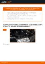 Cómo cambiar: pastillas de freno de la parte trasera - Audi A4 B6 Avant | Guía de sustitución