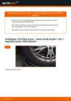 Poradnik krok po kroku w formacie PDF na temat tego, jak wymienić Łożysko koła w AUDI A4 Avant (8E5, B6)