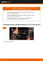 Zalecenia mechanika samochodowego dotyczącego tego, jak wymienić RENAULT Renault Clio 3 1.2 16V Amortyzator