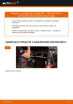 Kako zamenjati avtodel amortizer prtljažnih vrat na avtu Renault Clio 2 – vodnik menjave
