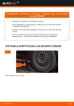 Como mudar terminal de direção em Renault Clio 2 - guia de substituição
