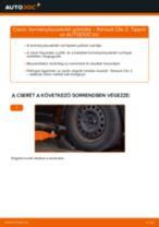 Cseréljünk Vezetőkar fej RENAULT CLIO: felhasználói kézikönyv