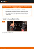 Nomaiņai Salona filtrs RENAULT Renault Clio 2 1.2 16V - remonta instrukcijas