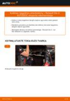 Automechanikų rekomendacijos RENAULT Renault Clio 2 1.2 16V Spyruoklės keitimui