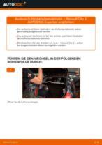 Austauschen von Scheibenwischergestänge Anweisung PDF für RENAULT CLIO