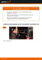 Remslang vervangen RENAULT CLIO: werkplaatshandboek