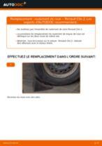 Comment changer : roulement de roue arrière sur Renault Clio 2 - Guide de remplacement