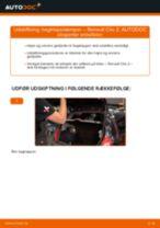 Udskiftning af Gasdæmper bagklap: pdf vejledning til RENAULT CLIO
