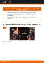 Slik bytter du bakluke demper på en Renault Clio 2 – veiledning