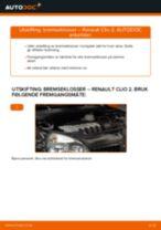 Slik bytter du bremseklosser fremme på en Renault Clio 2 – veiledning