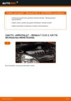 Automekaanikon suositukset RENAULT Renault Clio 2 1.2 16V -auton Takaluukun Kaasujousi-osien vaihdosta