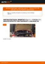 Οι συστάσεις του μηχανικού αυτοκινήτου για την αντικατάσταση CITROËN CITROËN C3 I (FC_) 1.4 i Μπουζί