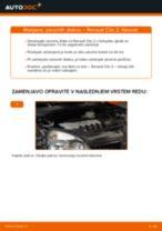 Kako zamenjati avtodel zavorni diski spredaj na avtu Renault Clio 2 – vodnik menjave