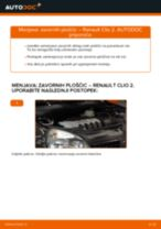 Kako zamenjati avtodel zavorne ploščice spredaj na avtu Renault Clio 2 – vodnik menjave