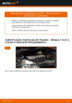 Quando mudar Jogo de pastilhas para travão de disco RENAULT CLIO II (BB0/1/2_, CB0/1/2_): pdf manual