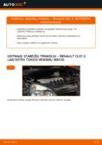 Automechanikų rekomendacijos RENAULT Renault Clio 2 1.2 16V Skersinės vairo trauklės galas keitimui