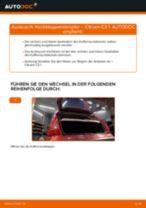 MERCEDES-BENZ ML-Klasse Wischergestänge wechseln hinten links rechts Anleitung pdf