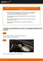 Wie Bremsscheibe CITROËN C3 tauschen und einstellen: PDF-Tutorial