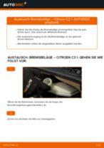 Nützliche Fahrzeug-Reparaturanleitung für Keramik Bremsbelagsatz Scheibenbremse CITROËN