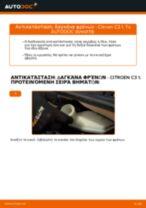 DIY εγχειρίδιο για την αντικατάσταση Δαγκάνα φρένων στο CITROËN C3