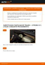 Instruções gratuitas online sobre como substituir Jogo de pastilhas de travão CITROËN C3 I (FC_)