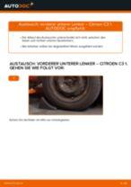 Lenker Radaufhängung unten vorne/hinten auswechseln: Online-Handbuch für CITROËN C3