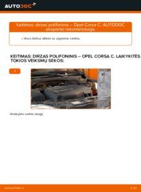 Kaip atlikti keitimą: 1.2 (F08, F68) Opel Corsa C V formos rumbuotas diržas