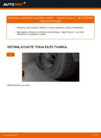 Kaip atlikti keitimą: 1.2 (F08, F68) Opel Corsa C Vikšro Valdymo Svirtis