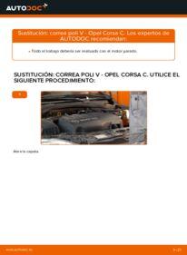 Cómo realizar una sustitución de Correa Poly V en un OPEL CORSA