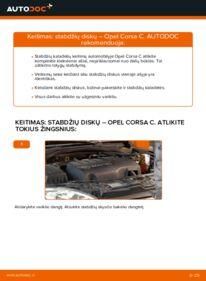 Kaip atlikti keitimą: 1.2 (F08, F68) Opel Corsa C Stabdžių diskas