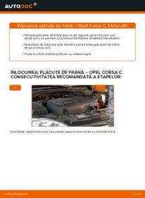 Cum să efectuați înlocuirea: Placute Frana la 1.2 (F08, F68) Opel Corsa C