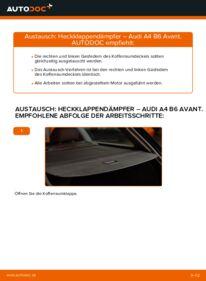 Wie der Wechsel durchführt wird: Heckklappendämpfer Audi A4 B6 Avant 1.9 TDI 2.5 TDI quattro 1.9 TDI quattro tauschen
