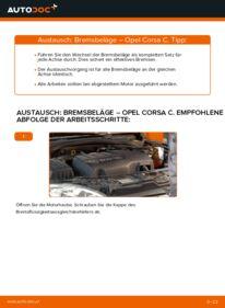 Wie der Austausch bewerkstelligt wird: Bremsbeläge beim OPEL CORSA