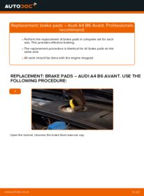 How to carry out replacement: Brake Pads on 1.9 TDI Audi A4 B6 Avant