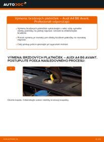 Ako vykonať výmenu: Brzdové Platničky na 1.9 TDI Audi A4 B6 Avant