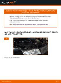Wie der Wechsel durchführt wird: Bremsbeläge Audi A4 B6 Avant 1.9 TDI 2.5 TDI quattro 1.9 TDI quattro tauschen