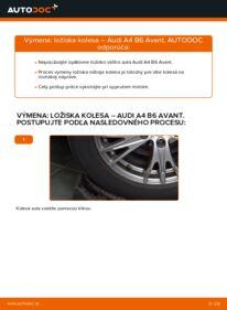 Ako vykonať výmenu: Lozisko kolesa na 1.9 TDI Audi A4 B6 Avant
